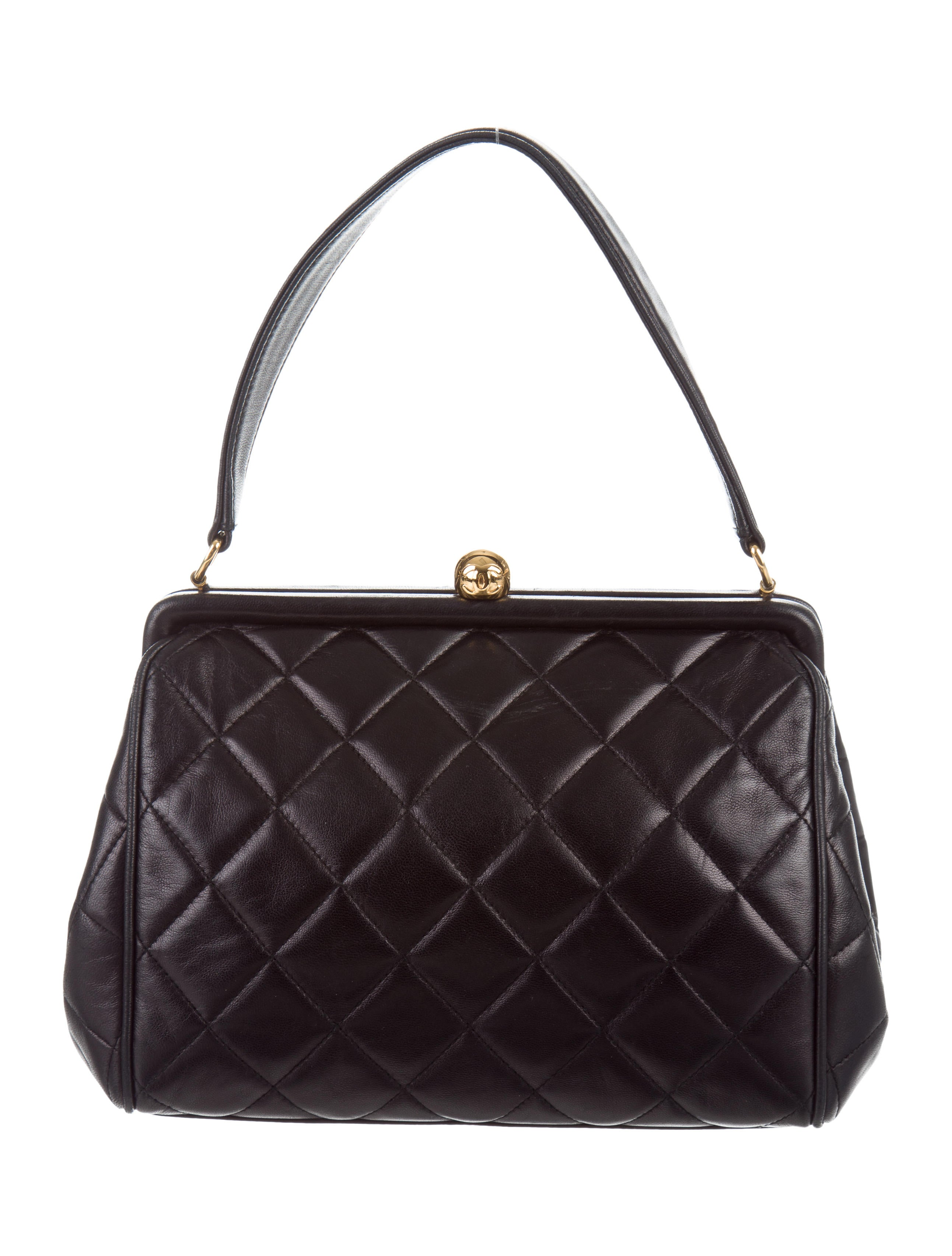 Chanel Quilted Lambskin Framed Bag
