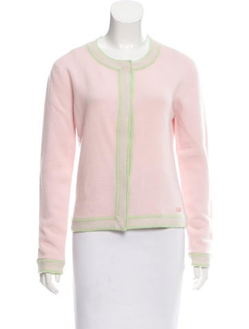 Chanel Cashmere Button-Up Cardigan None