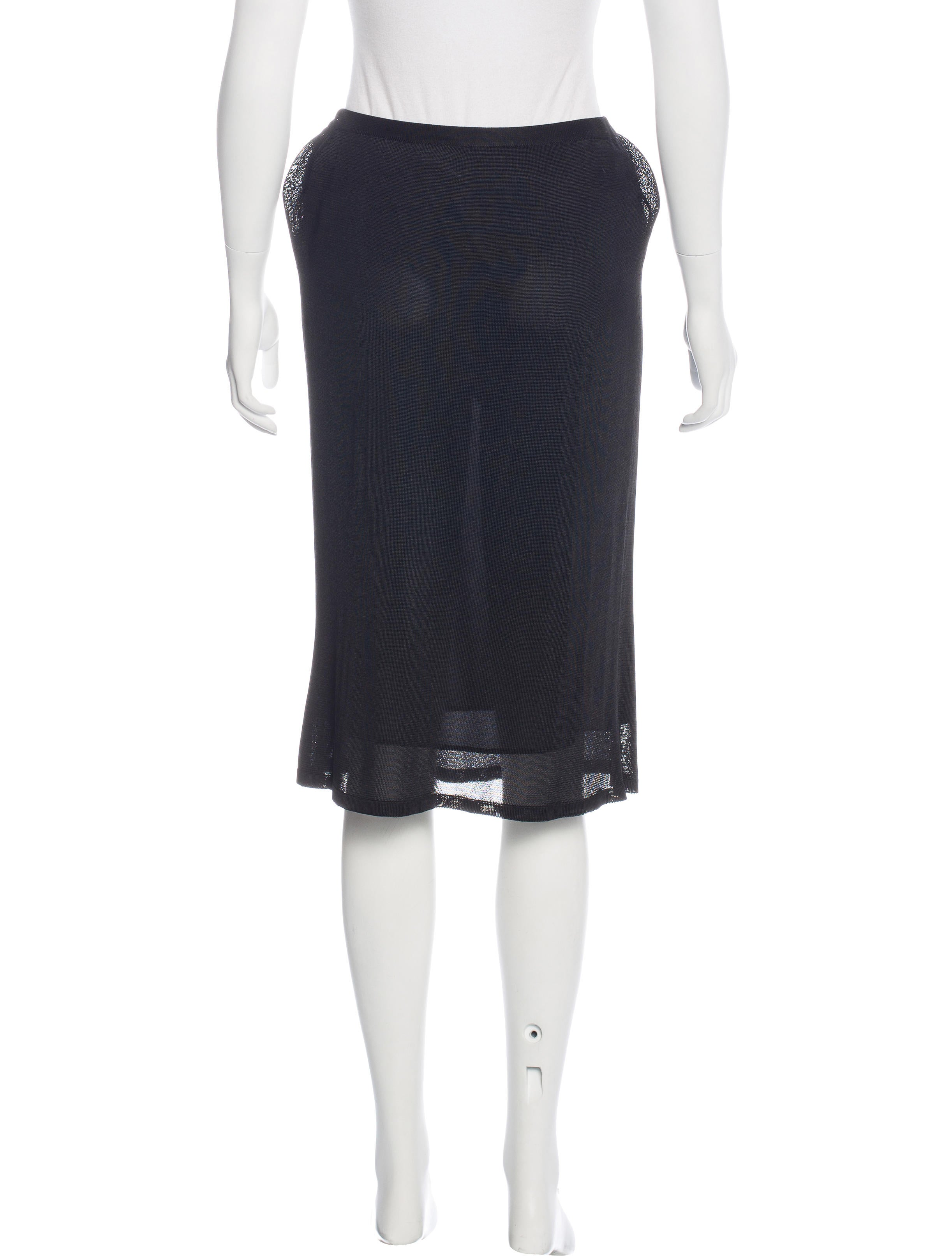 chanel knit knee length skirt clothing cha182208 the