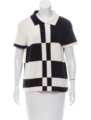 Chanel Cashmere Colorblock Top None