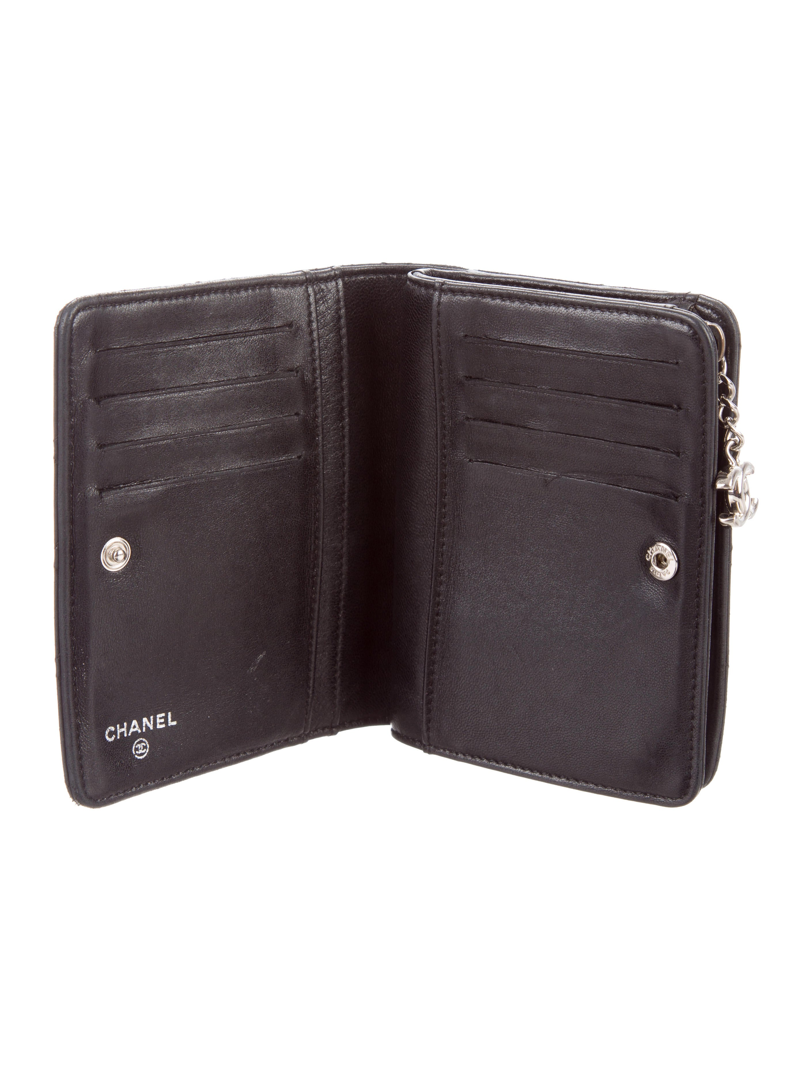 Chanel Quilted Lambskin Compact Wallet Accessories