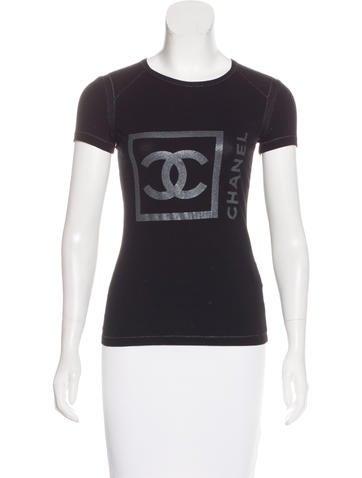 Chanel Sport Metallic Logo T Shirt Clothing Cha183171