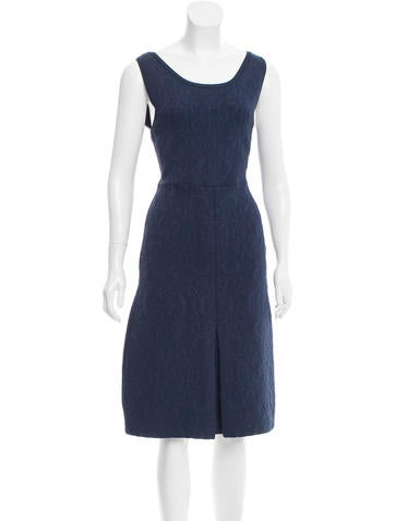 Chanel Matelassé Midi Dress None