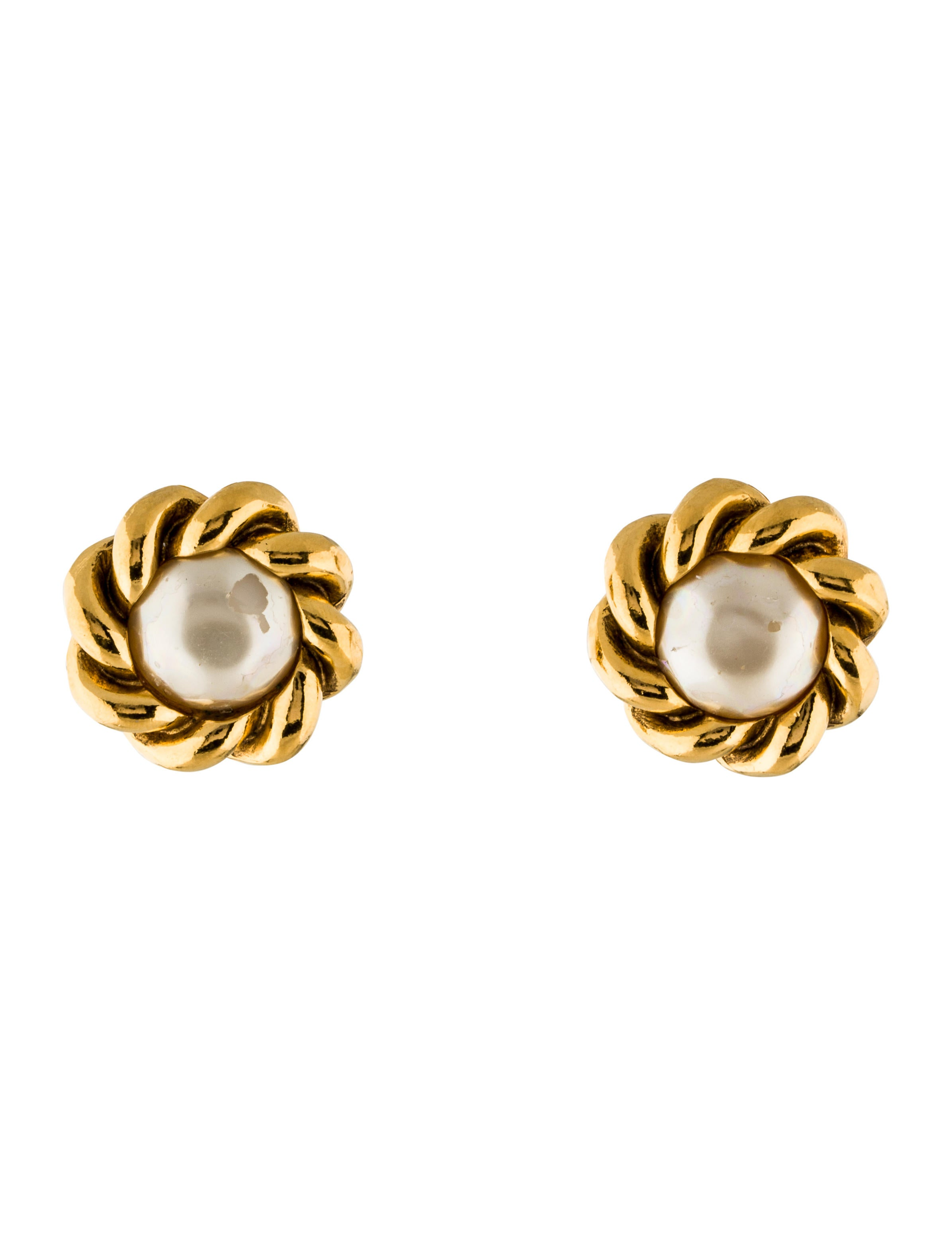 channel jewelry earrings chanel pearl clip on earrings earrings cha183517 the 1439