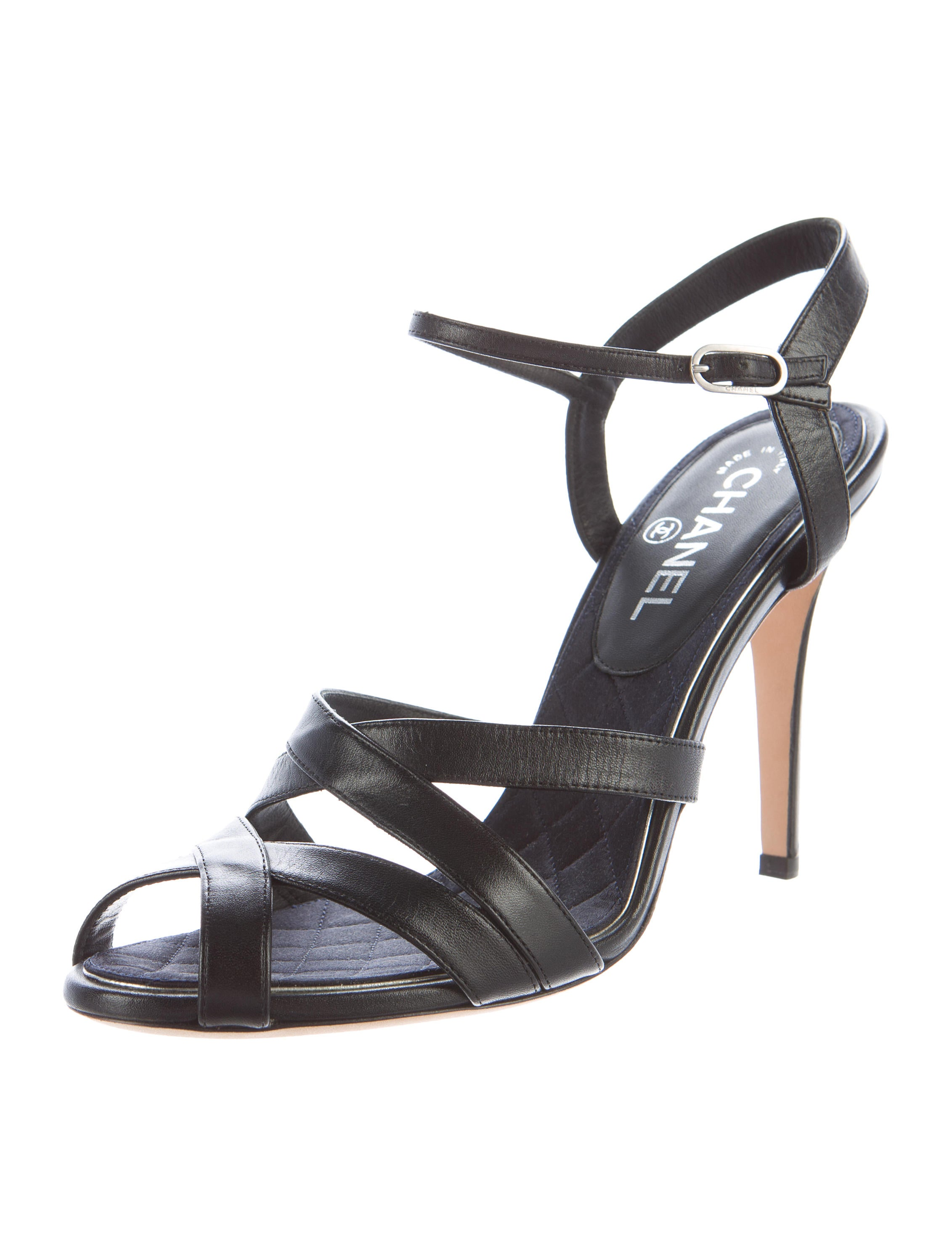 Chanel CC Leather Sandals - Shoes - CHA183571 | The RealReal