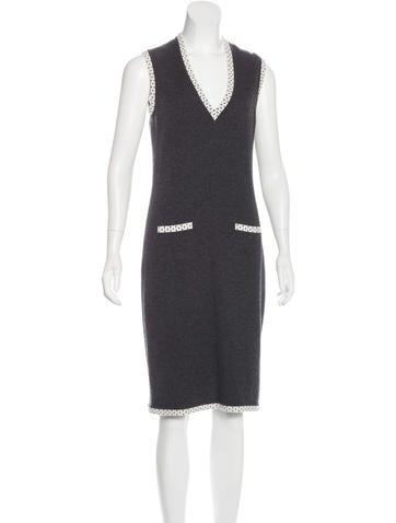 Chanel Cashmere Sheath Dress None