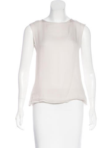 Chanel Silk Sleeveless Top None