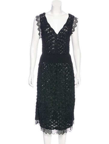 Chanel Silk Knit Dress None