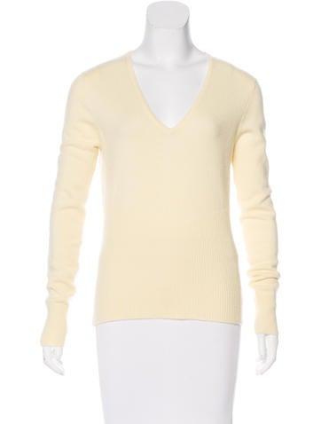 Chanel Cashmere Rib Knit Sweater None
