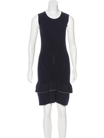 Chanel Sleeveless Rib Knit Dress None