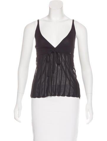 Chanel Silk Knit Top None