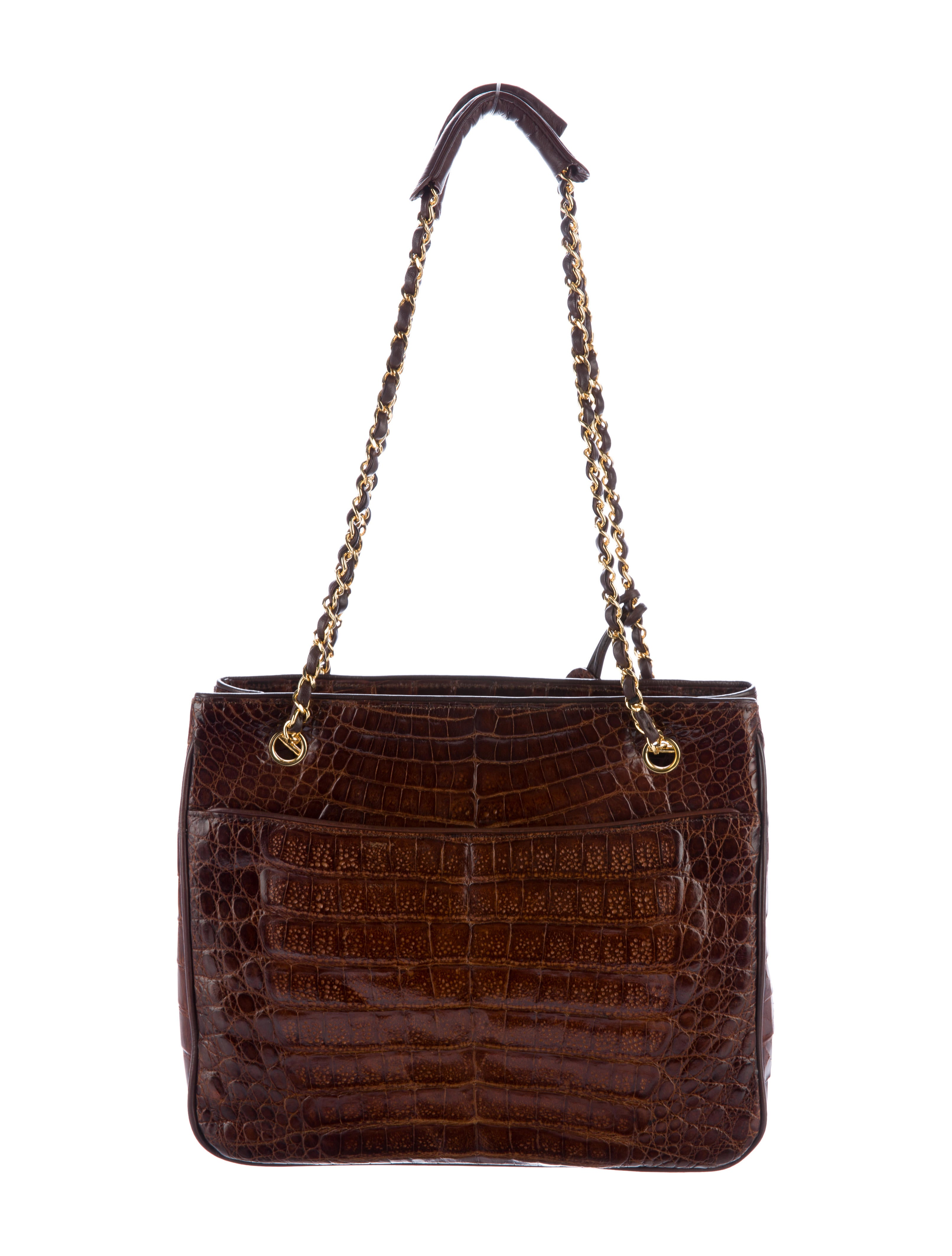 chanel vintage crocodile shoulder bag handbags