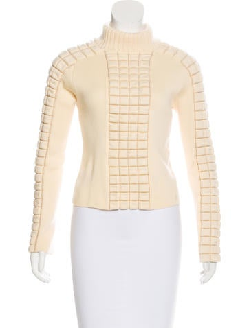 Chanel Wool Quilted Sweater None