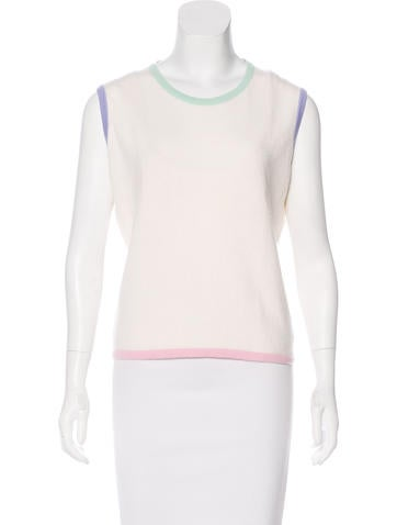 Chanel Vintage Cashmere Top None