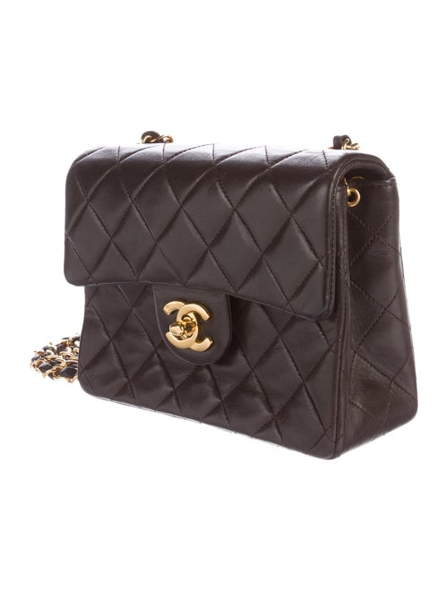 beef46136016 Chanel Quilted Lambskin Mini Square Classic Flap Bag - Handbags ...
