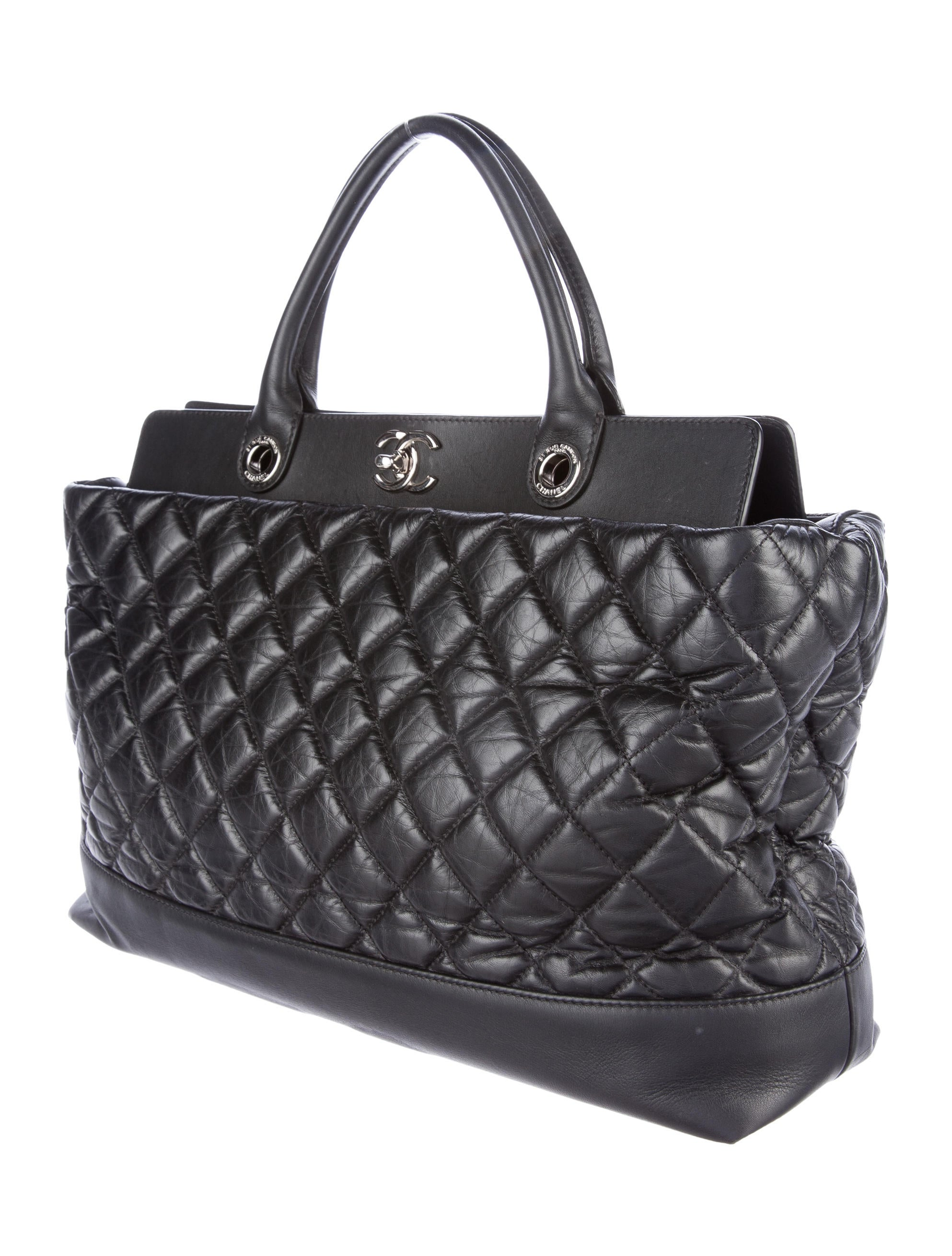 4cde369aaa76 Chanel Quilted Tote Bag In Calfskin - Best Quilt Grafimage.co