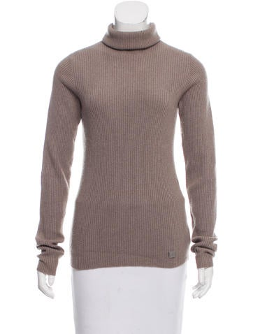 Chanel Rib Knit Cashmere Sweater None
