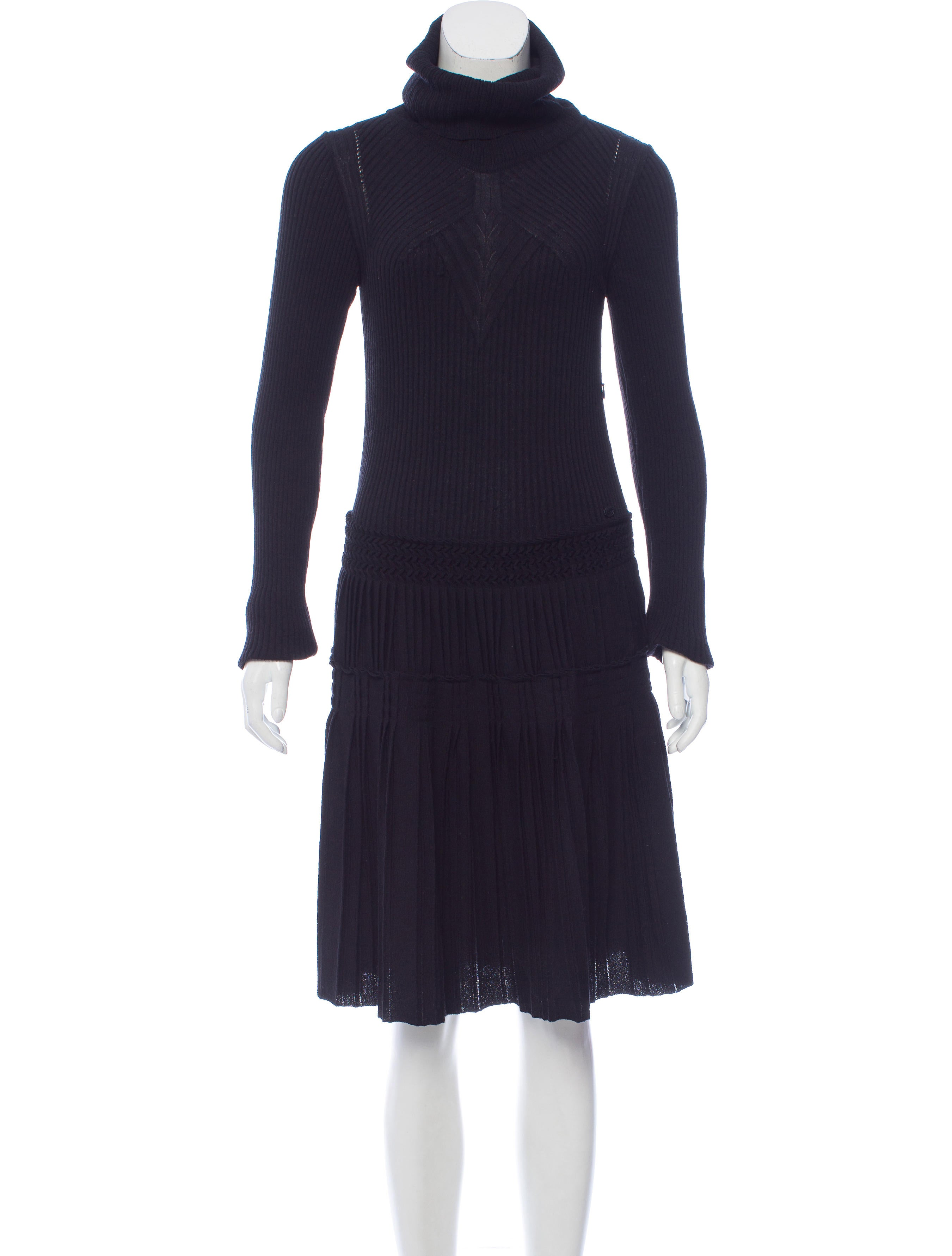 Chanel Wool Sweater Dress - Clothing - CHA185748 | The RealReal