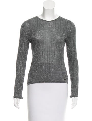 Chanel Wool Lurex Top None