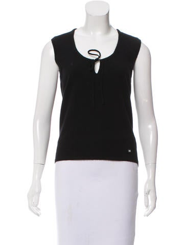 Chanel Cashmere Sleeve Top None