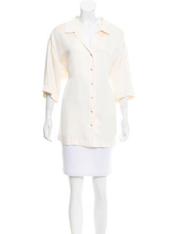 Chanel Oversize Silk Top None