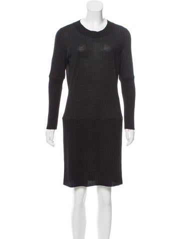 Chanel Lurex Rib Knit Dress None