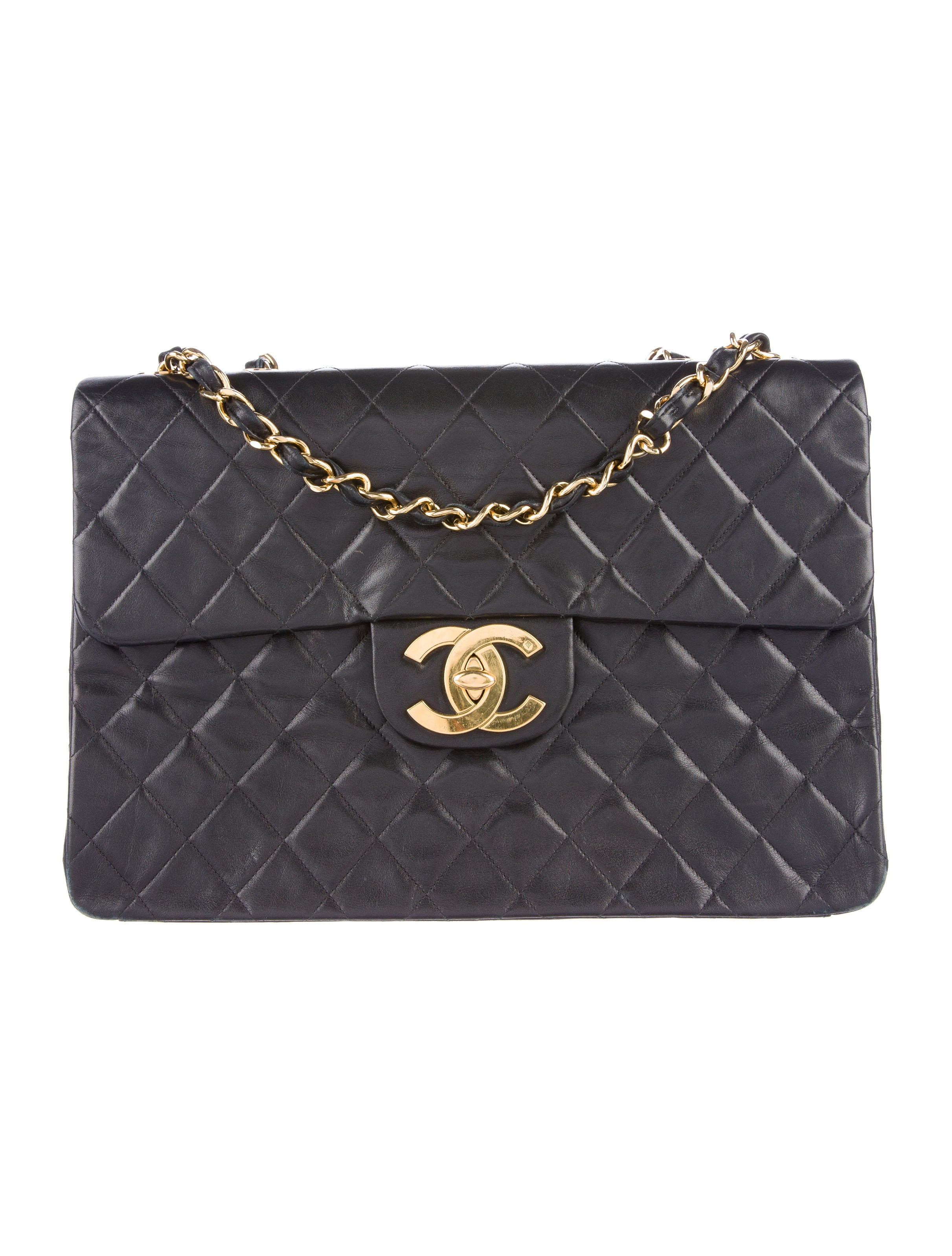 Chanel Vintage Classic Maxi Single Flap Bag Handbags