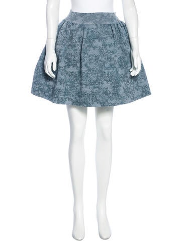 Chanel Camellia Knit Skirt None