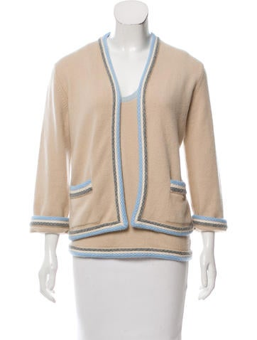 Chanel Two-Piece Cashmere Cardigan Set None