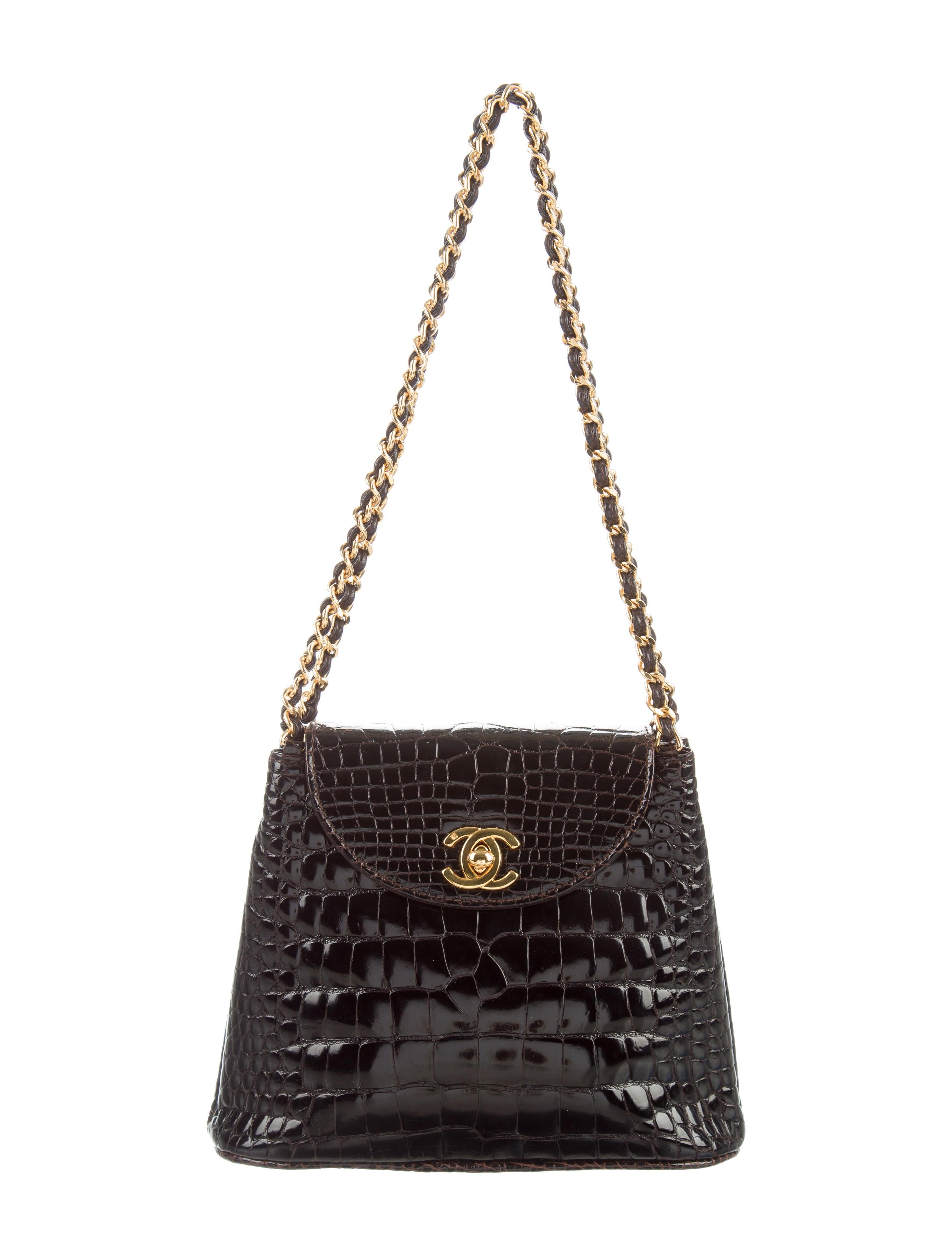 Chanel vintage crocodile shoulder bag handbags - Vintage chanel ...