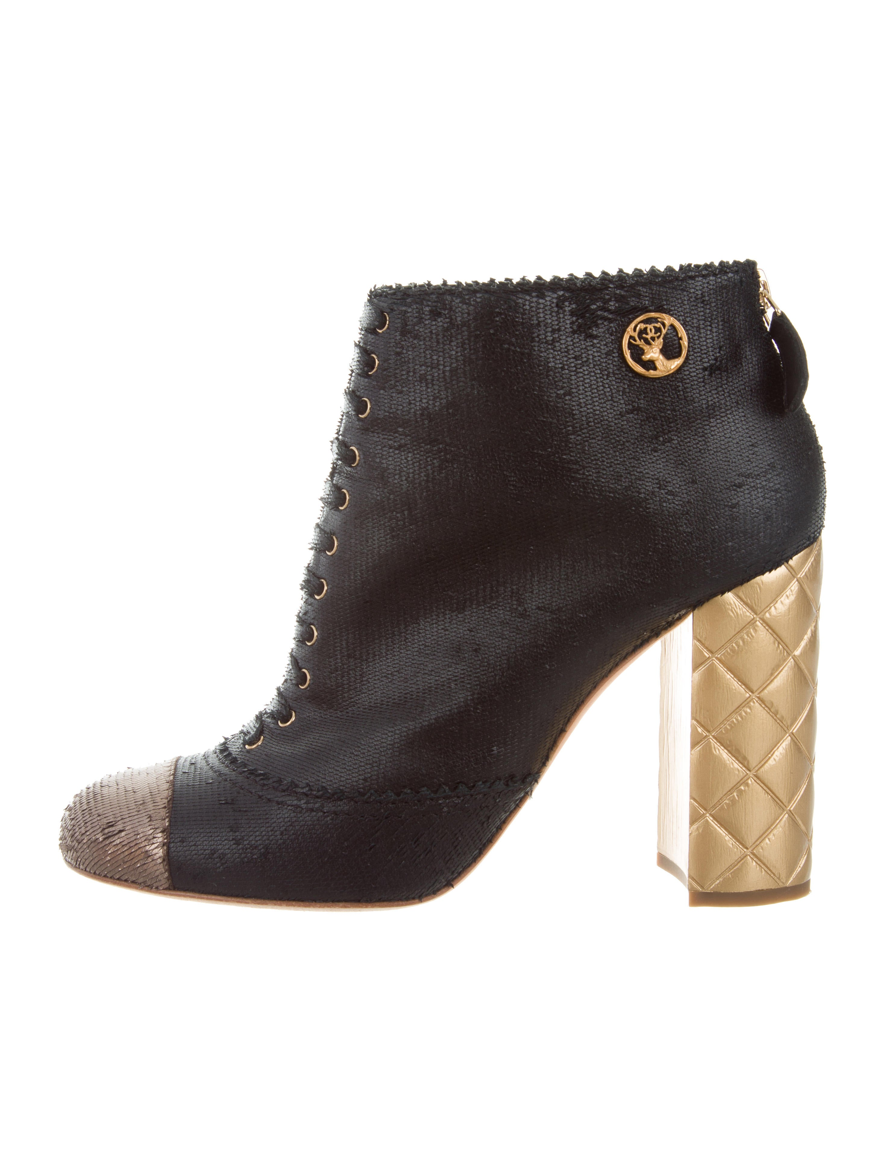 bf10b091126c Chanel 2015 Paris-Salzburg Fantasy Ankle Boots - Shoes - CHA187503 ...