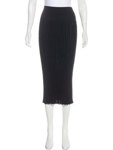 Chanel Knit Midi Skirt None