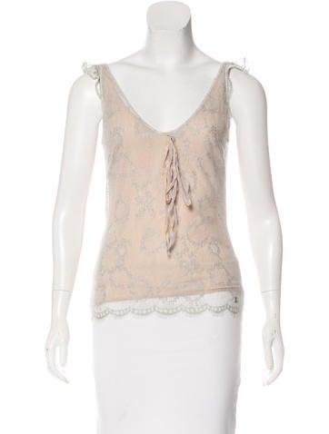 Chanel Silk Lace Top None