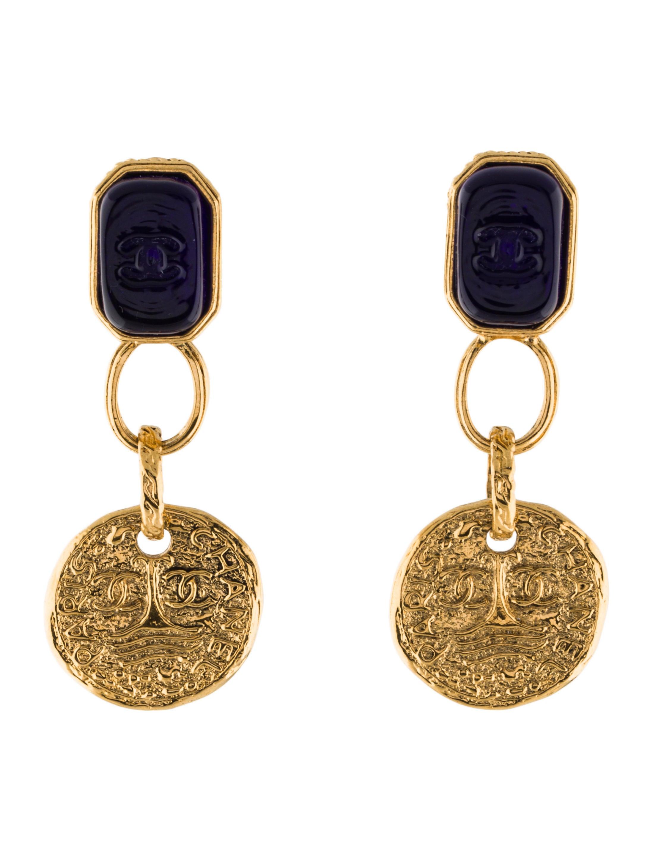 chanel gripoix clip on earrings earrings cha187821
