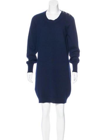 Chanel Turn-Lock Cashmere Dress None