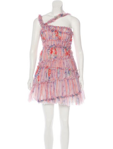 Chanel Ruched Silk Dress None