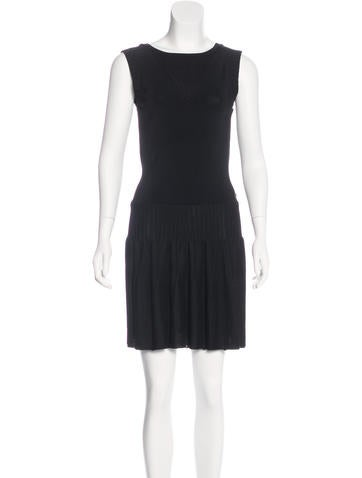 Chanel Knit Pleated Dress None