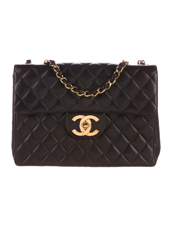 Chanel Väskor Vintage : Chanel vintage classic jumbo single flap bag handbags