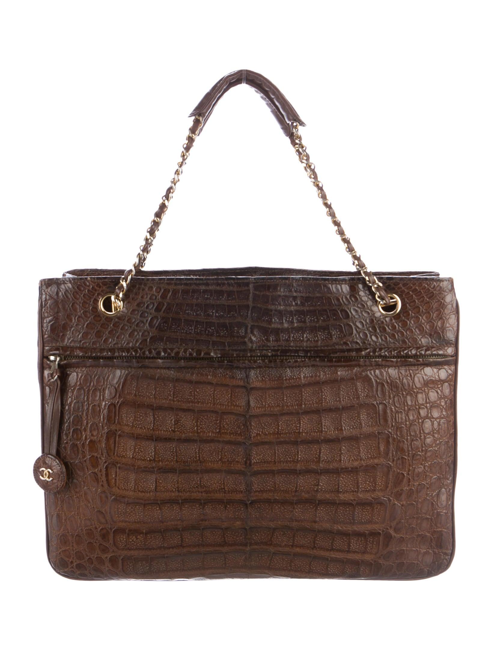 chanel vintage croc handbag don't they