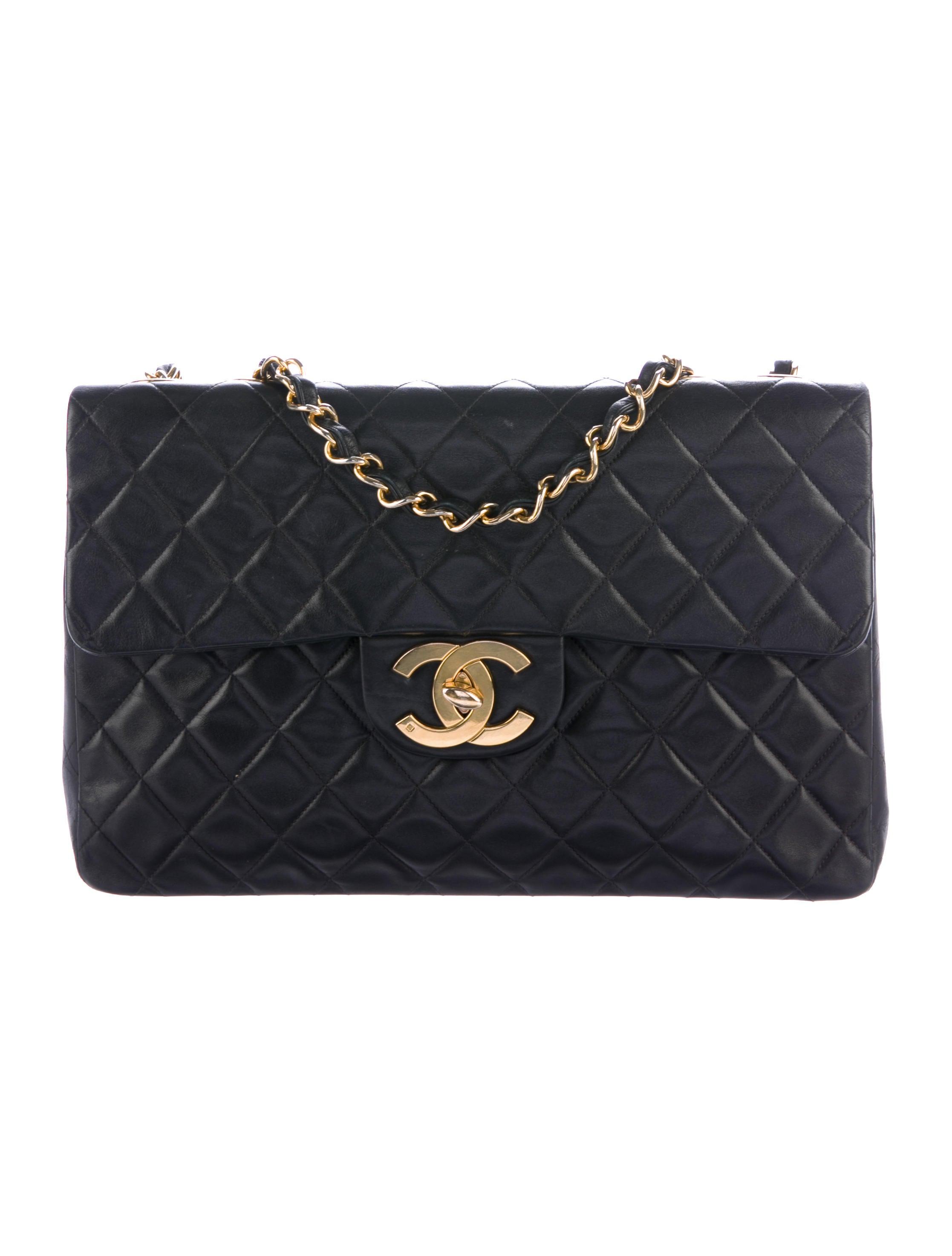 Chanel Väskor Vintage : Chanel vintage classic maxi single flap bag handbags
