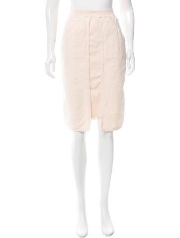 Chanel Matelassé Knee-Length Skirt None