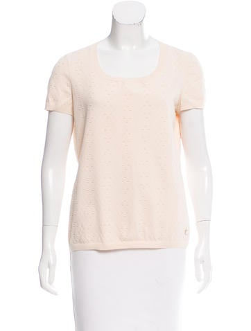 Chanel Tailored Matelassé Top None