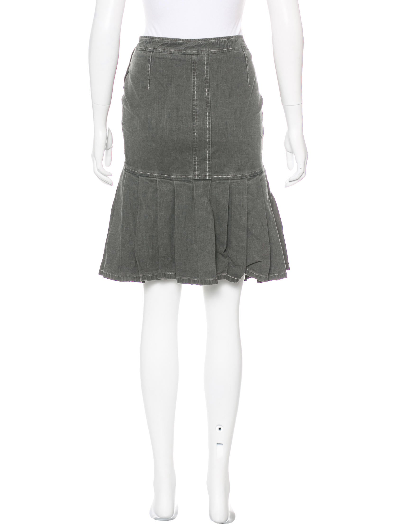 chanel pleated denim skirt clothing cha189189 the