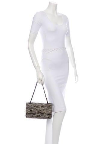 Tweed Double Flap Bag