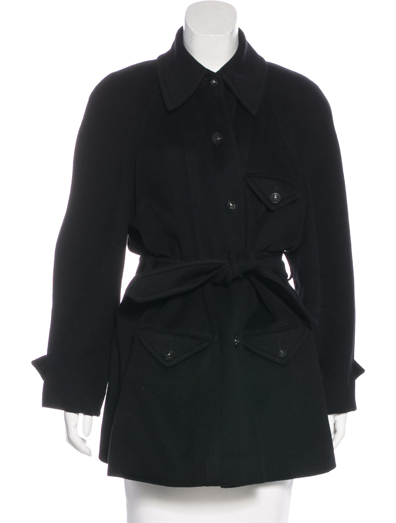 chanel vintage belted coat clothing cha189253 the