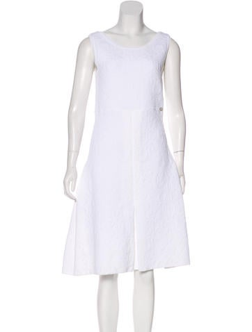 Chanel Matelassé Sleeveless Dress None