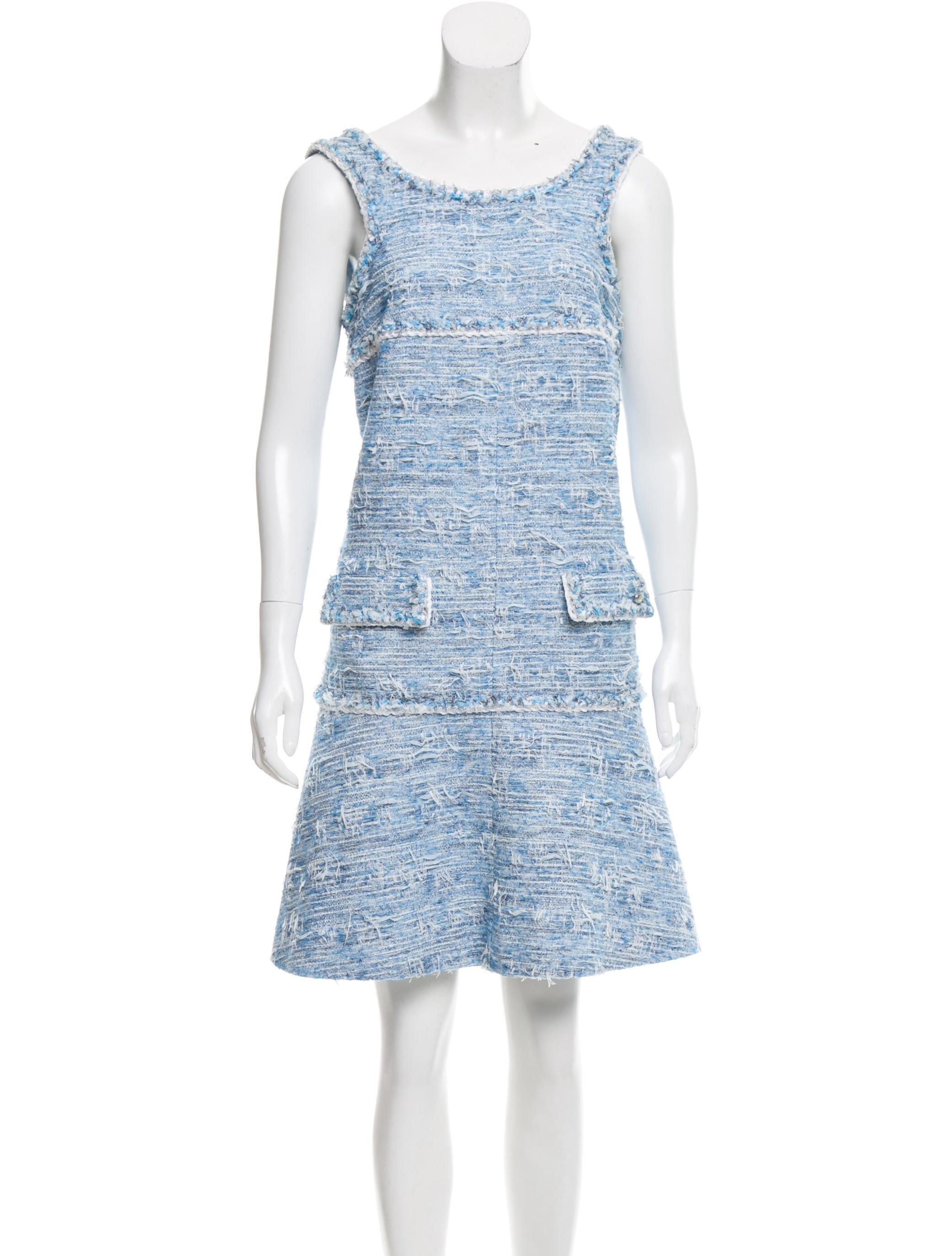 Chanel 2015 Sleeveless Tweed Dress