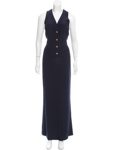 Chanel Silk Maxi Dress None