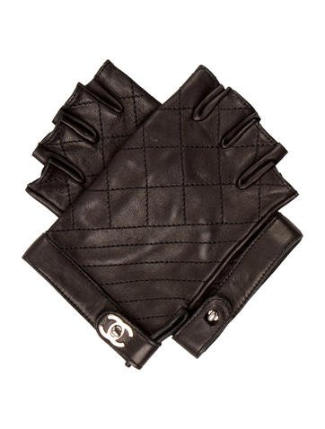 Chanel 2015 Quilted Fingerless Gloves - Accessories ...
