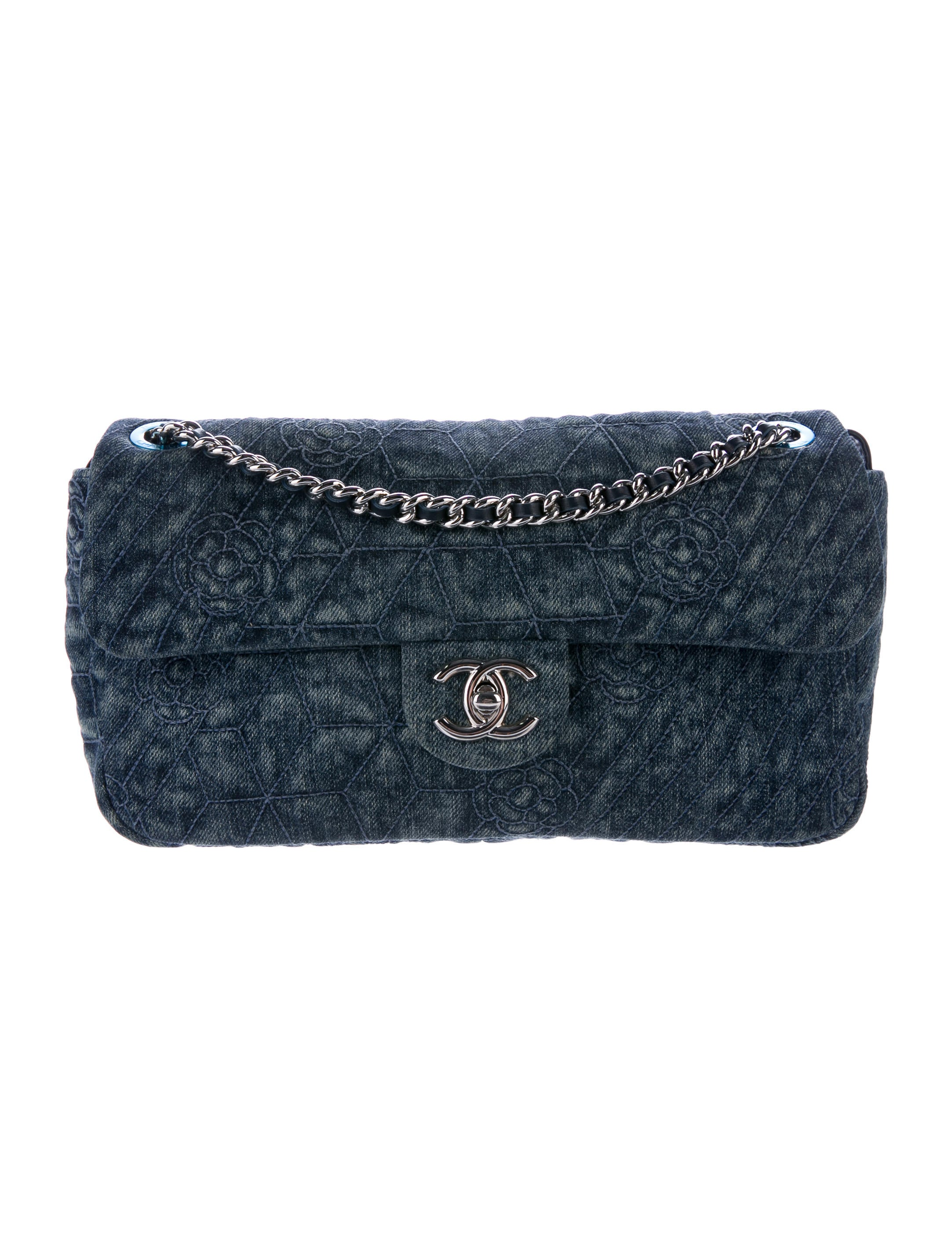 chanel denim camellia flap bag handbags cha189810